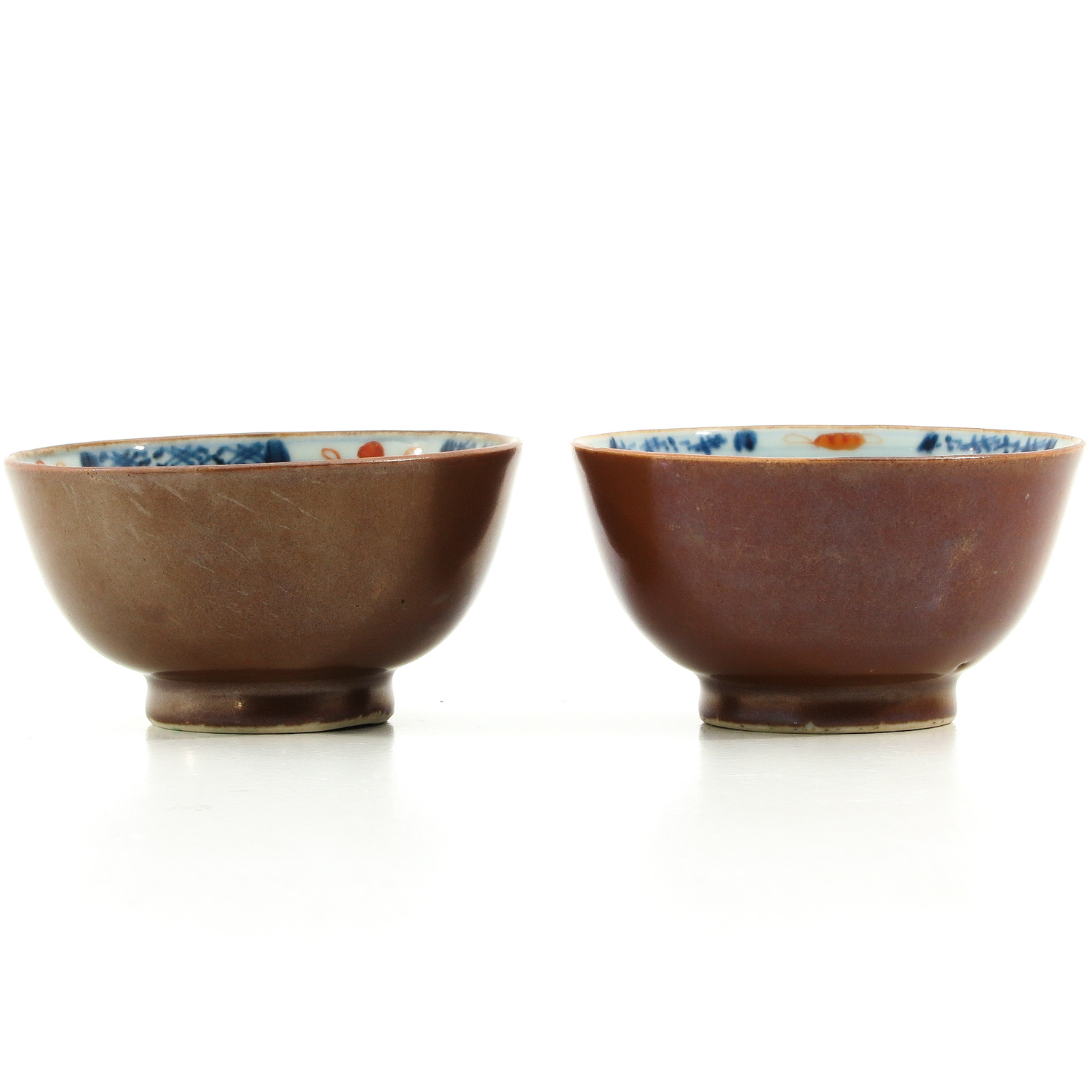 A Pair of Batavianware Cups and Saucers - Image 5 of 9