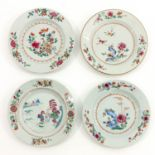 A Lot of 4 Famille Rose Plates