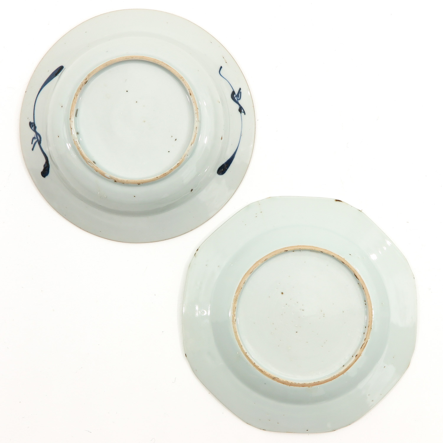 A Lot of 5 Blue and White Plates - Image 8 of 10