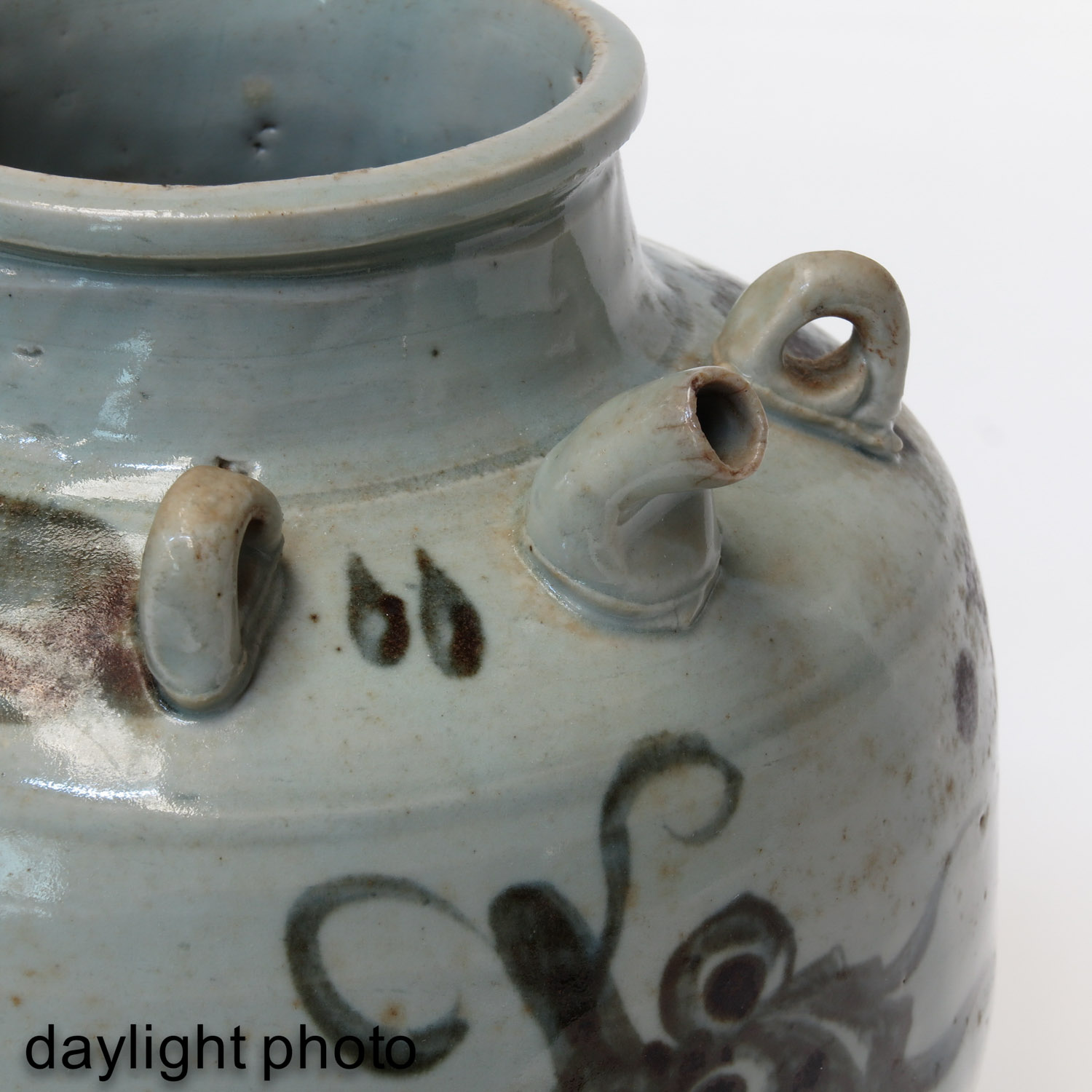 A Blue and White Stoneware Kruik - Image 9 of 10