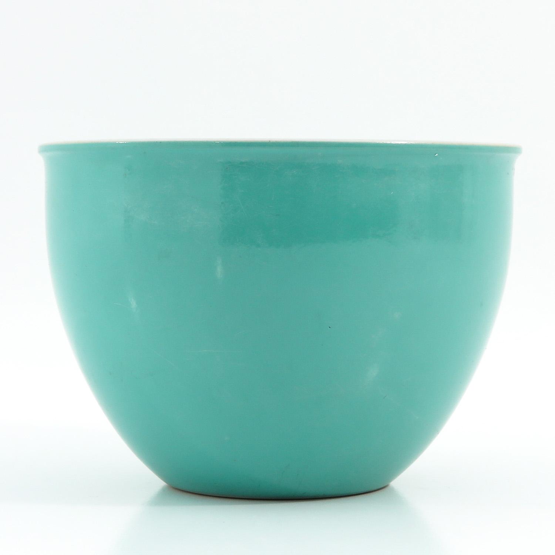 A Celadon Cache Pot - Image 4 of 9