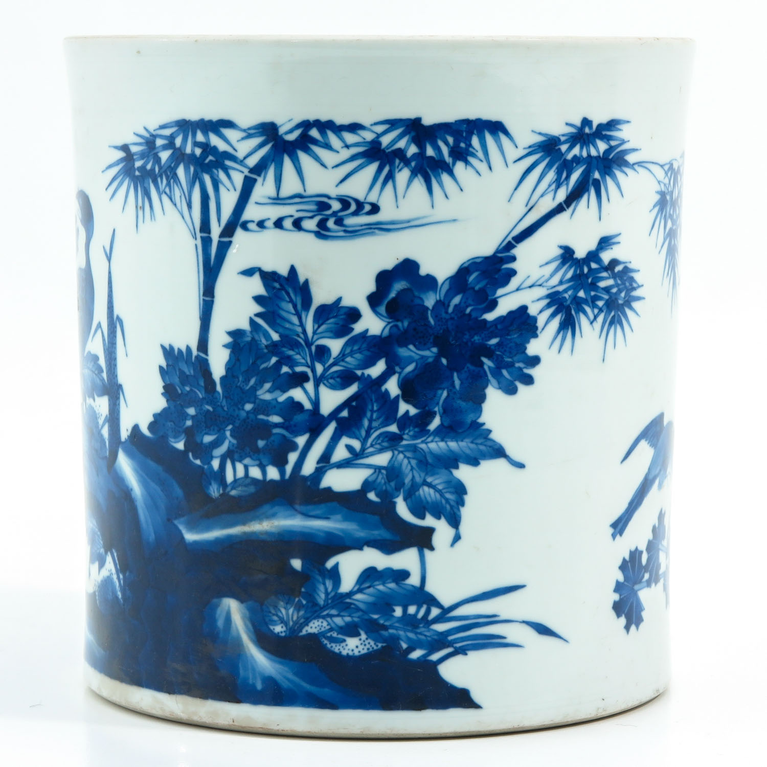 A Blue and White Brush Pot - Image 2 of 9