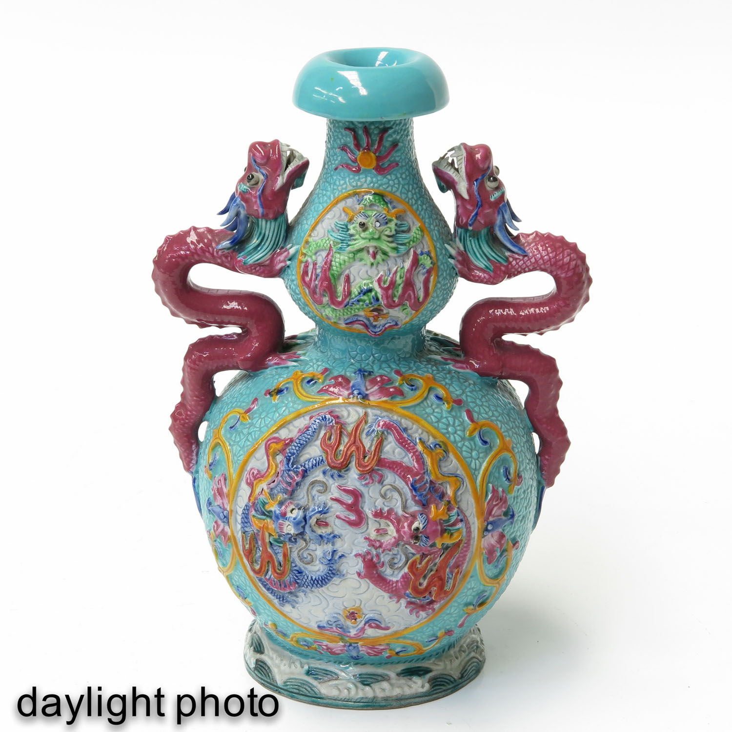 A Pair of Famille Rose Vases - Image 7 of 10