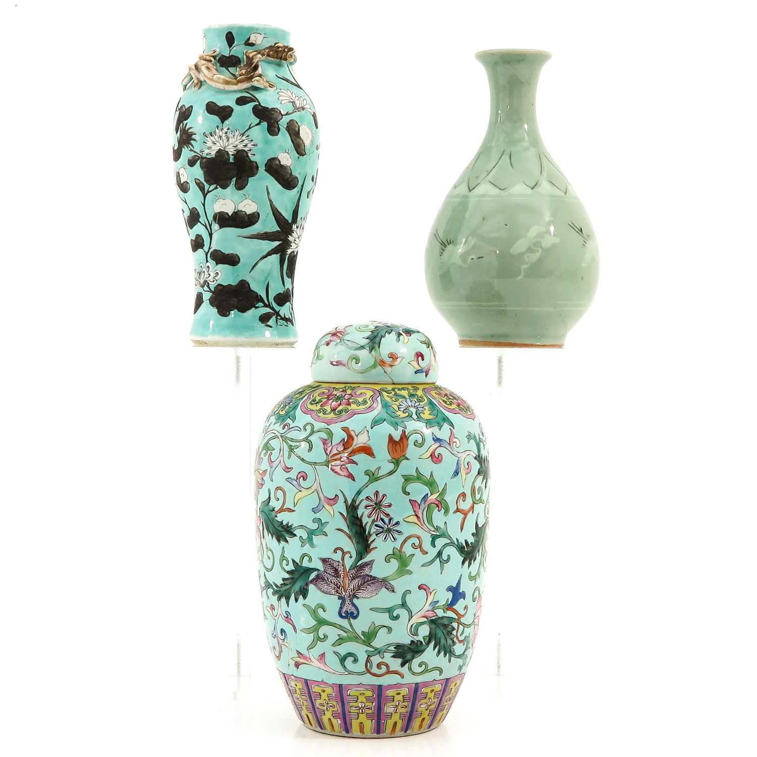 A Collection of 3 Vases - Image 3 of 9