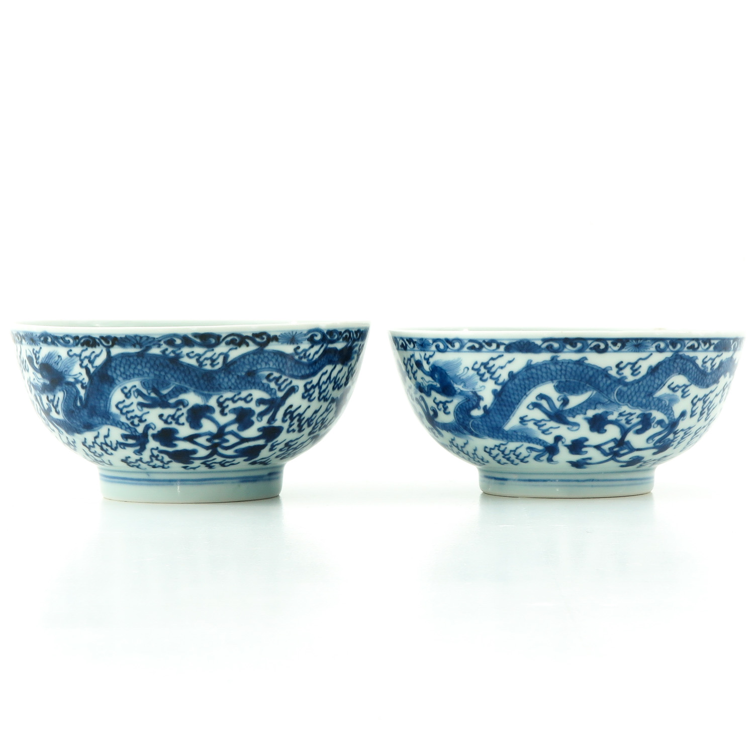 A Pair of Blue and White Bowls - Image 2 of 9