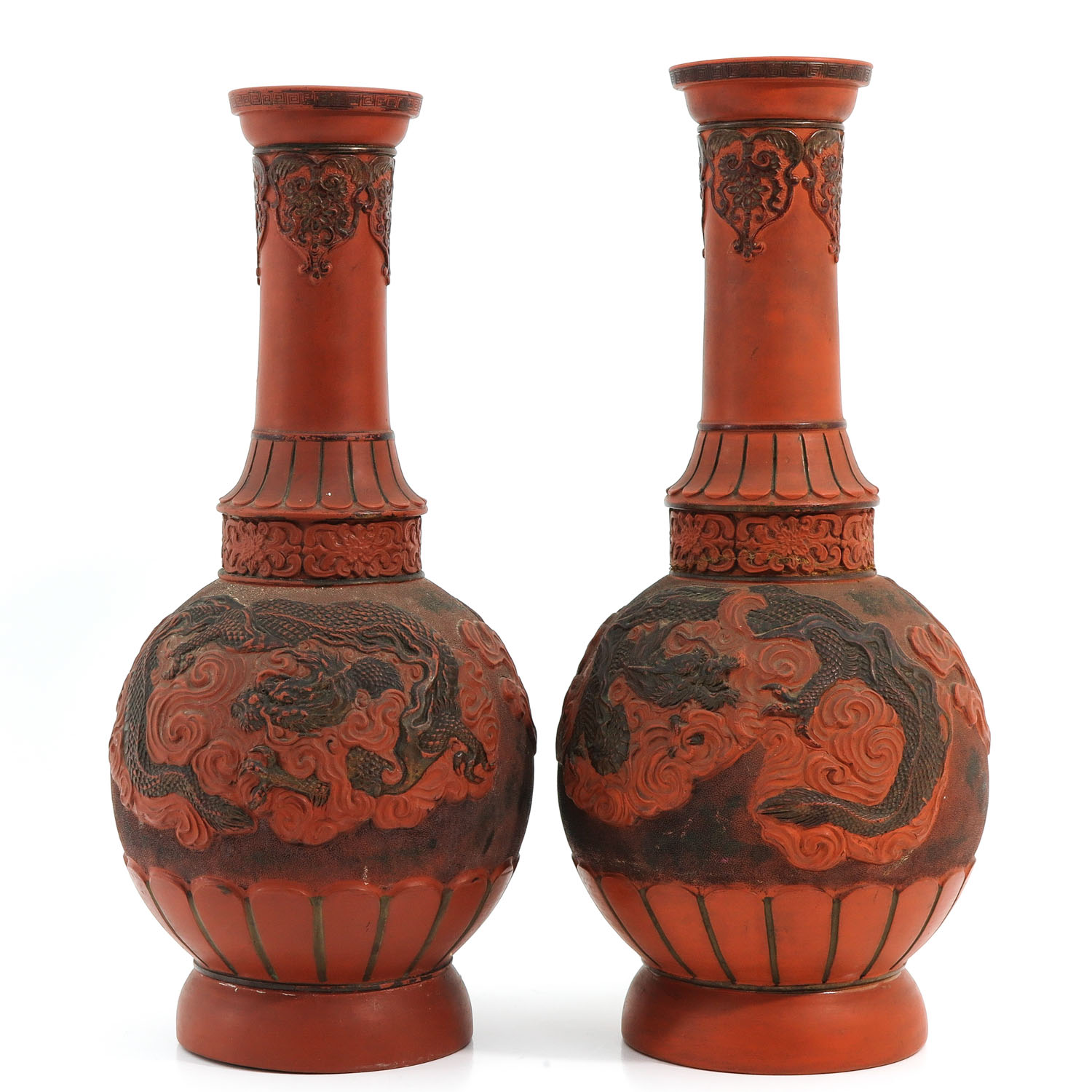 A Pair of Stoneware Vases - Image 3 of 10