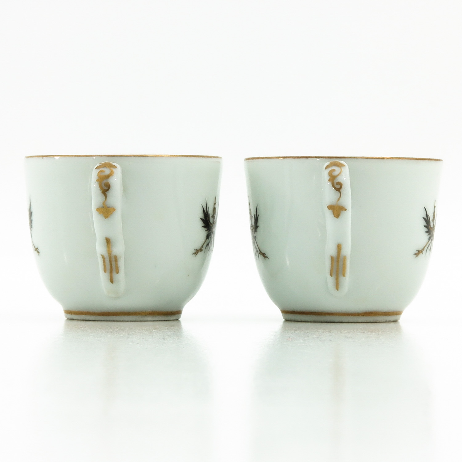 A Pair of Polychrome Decor Cups - Image 2 of 9