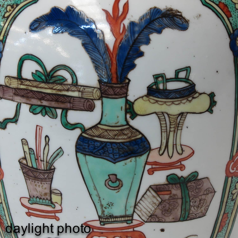 A Famille Verte Lamp - Image 9 of 9