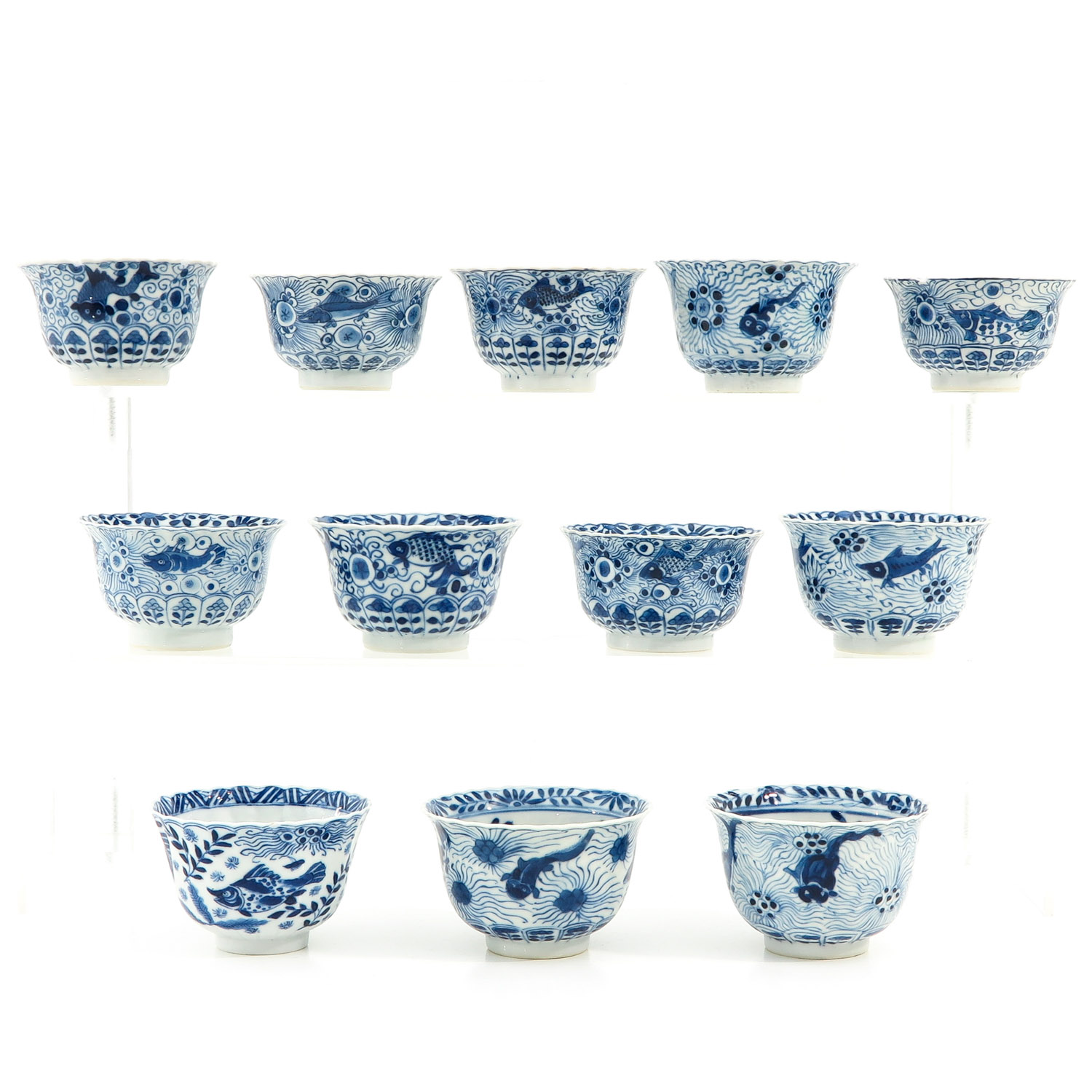 A Series of 12 Cups and Saucers - Image 3 of 10