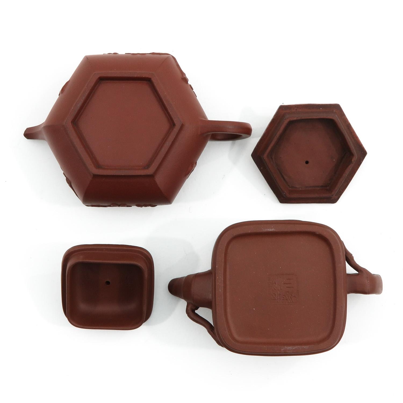 2 Yixing Teapots - Image 6 of 10