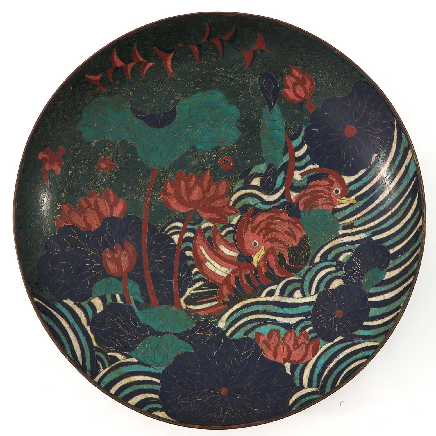 A Pair of Cloisonne Chargers - Image 5 of 10