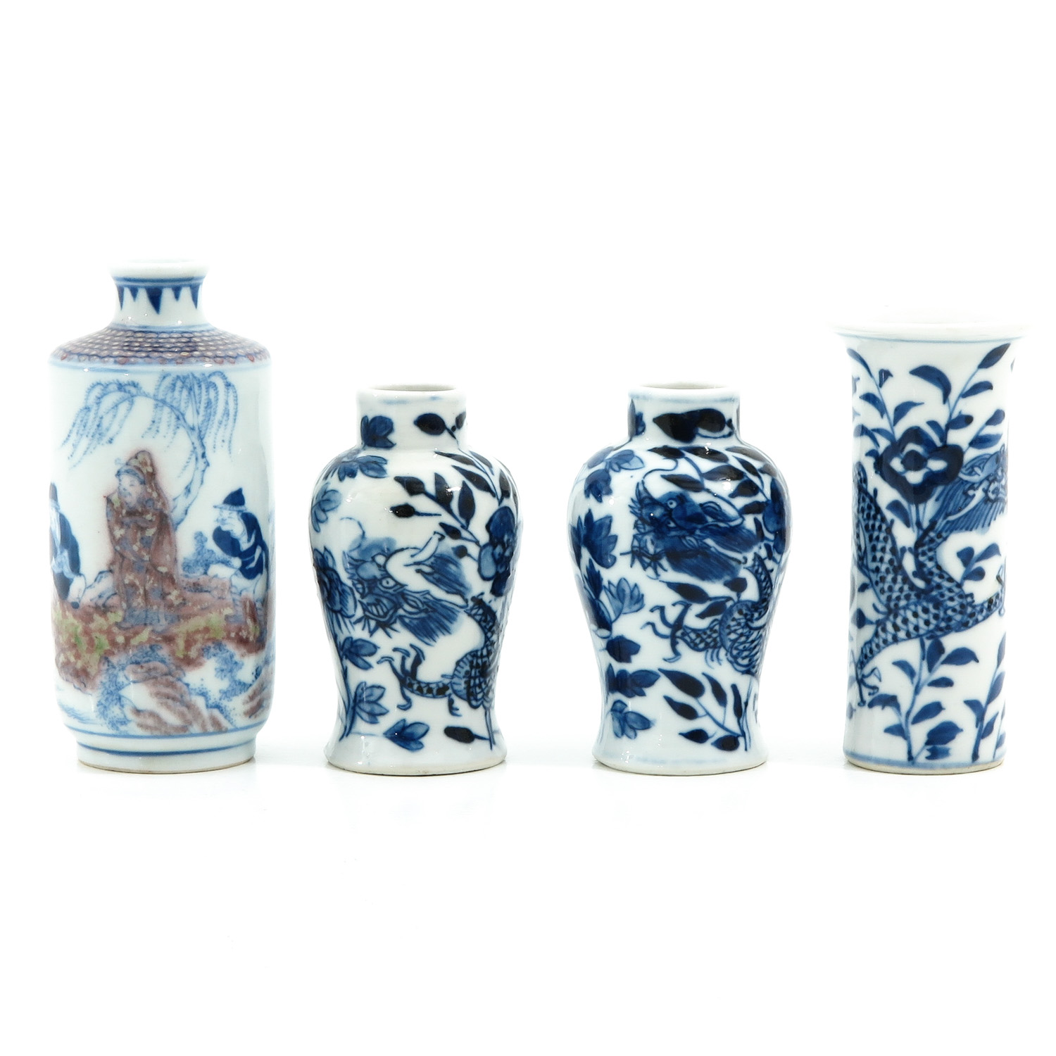 A Collection of 4 Miniature Vases