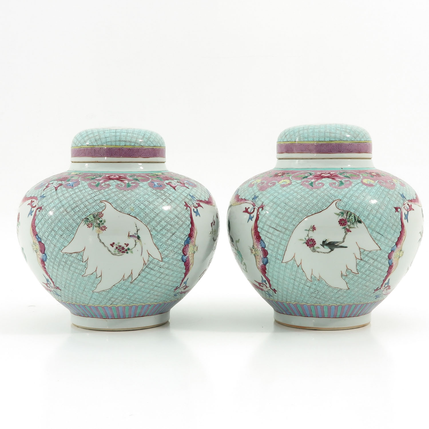 A Pair of Famille Rose Ginger Jars - Image 2 of 10
