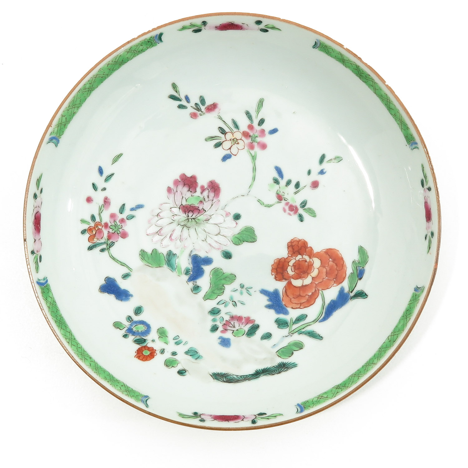 A Lot of 2 Famille Rose Plates - Image 3 of 10