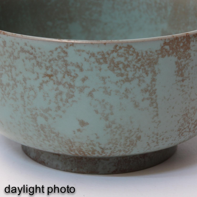 A Hare Fur Tea Bowl and Celandon Bowl - Image 9 of 10