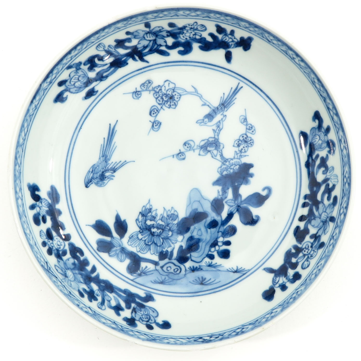 A Lot of 3 Blue and White Plates - Image 5 of 10