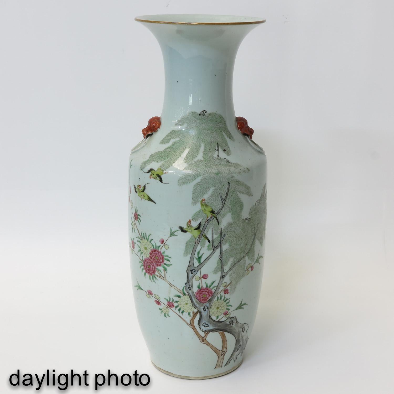 A Famille Rose Decor Vase - Image 7 of 9