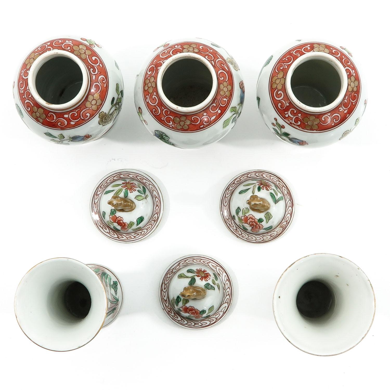 A Set of 5 Garniture Vases - Image 5 of 9