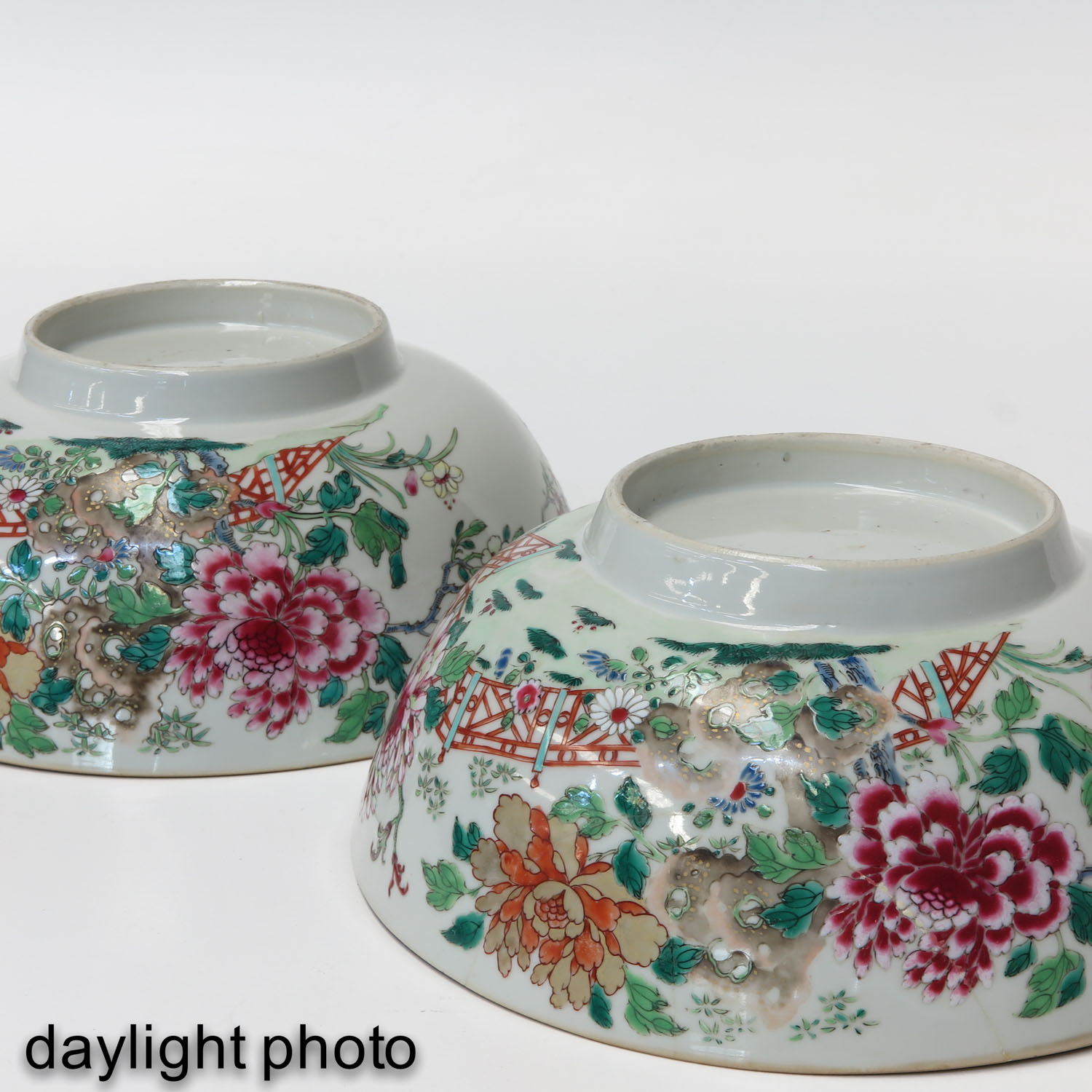 A Pair of Famille Rose Bowls - Image 8 of 9