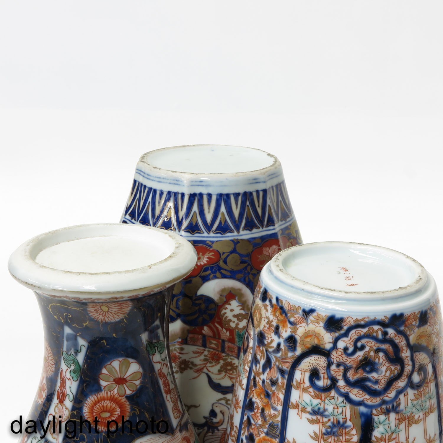 A Collection of 3 Imari Vases - Image 8 of 9