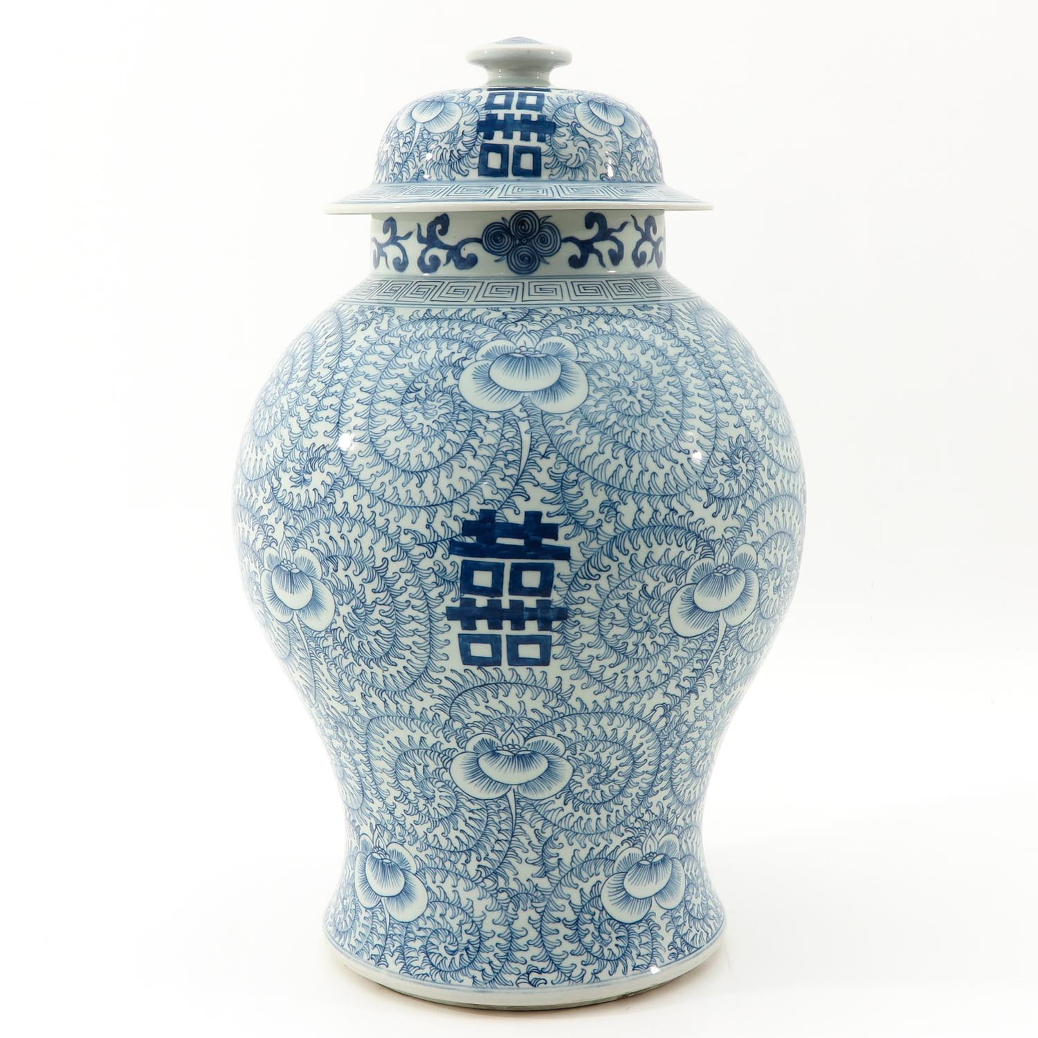 A Blue and White Vase with Cover - Image 3 of 9