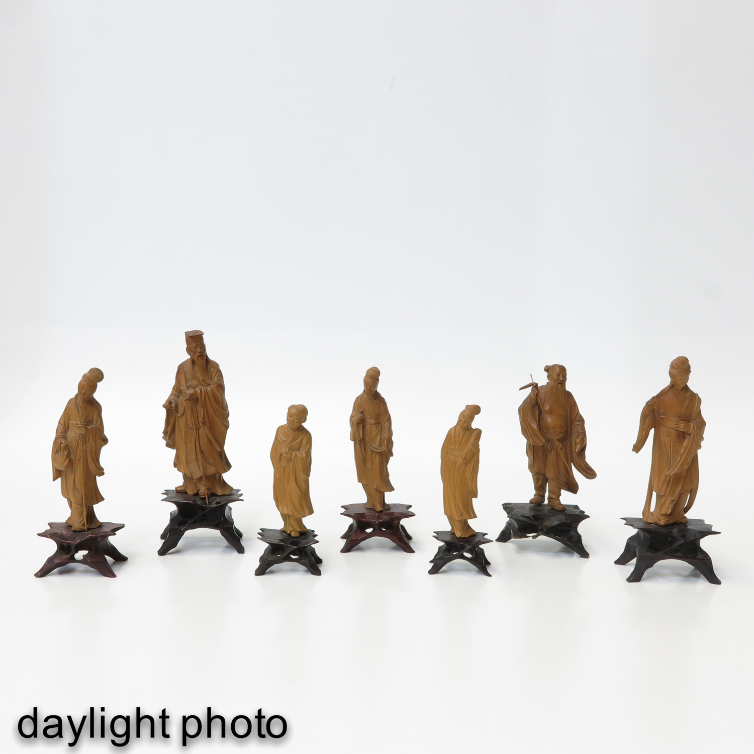 A Lot of7 Carved Sculptures - Image 7 of 10