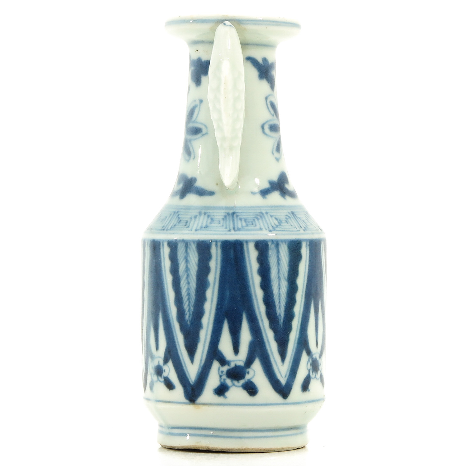 A Blue and White Twin Fish Vase - Image 4 of 9