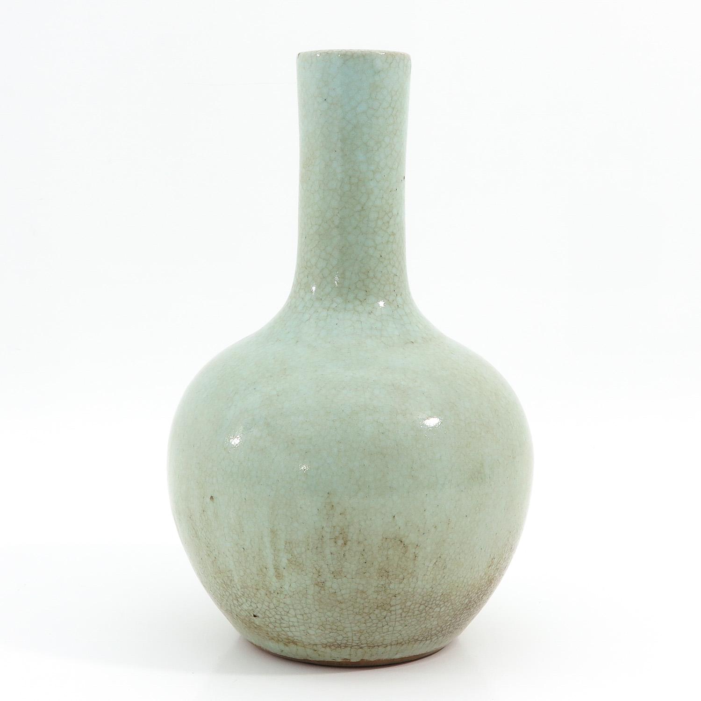 A Celadon Bottle Vase - Image 3 of 10