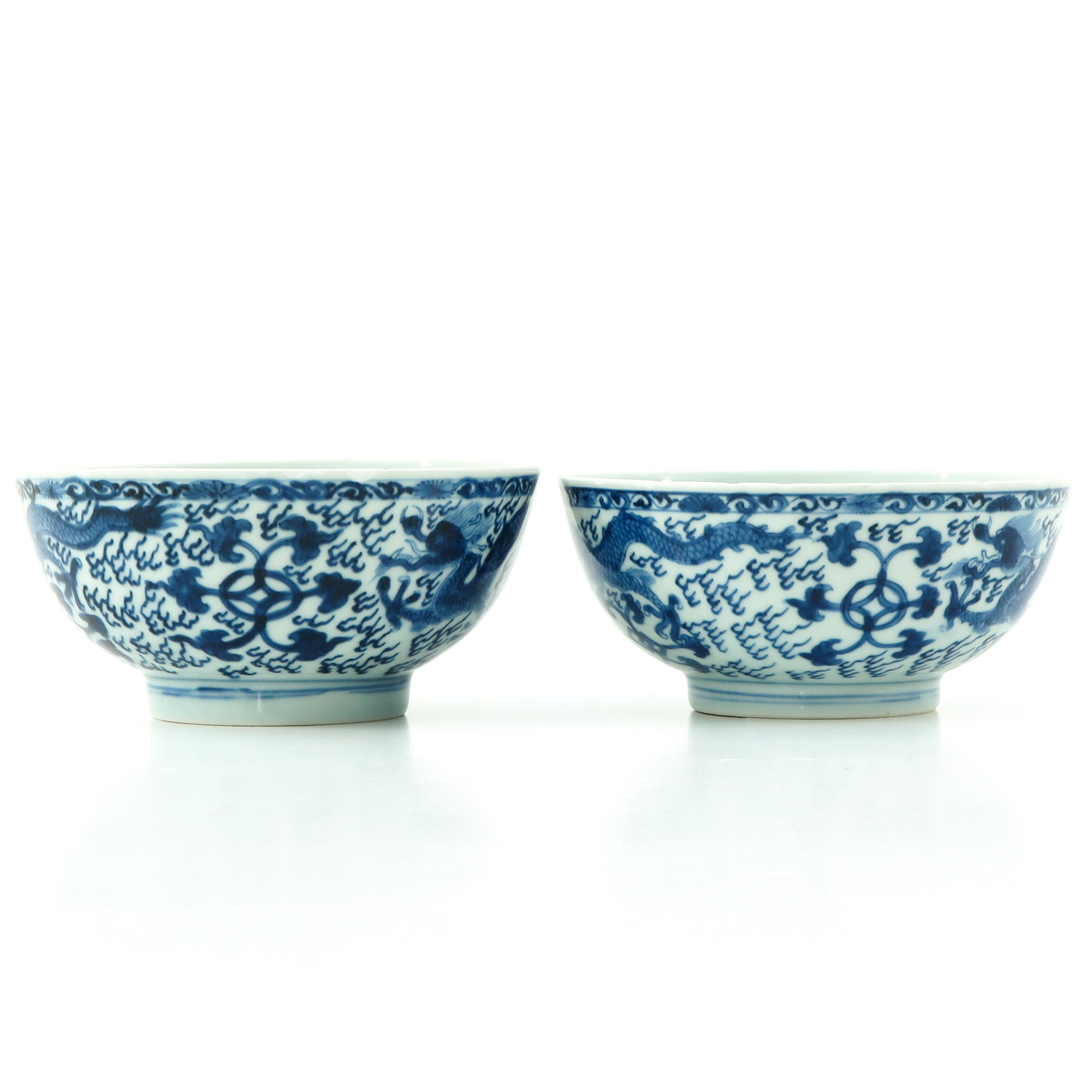 A Pair of Blue and White Bowls - Image 3 of 9