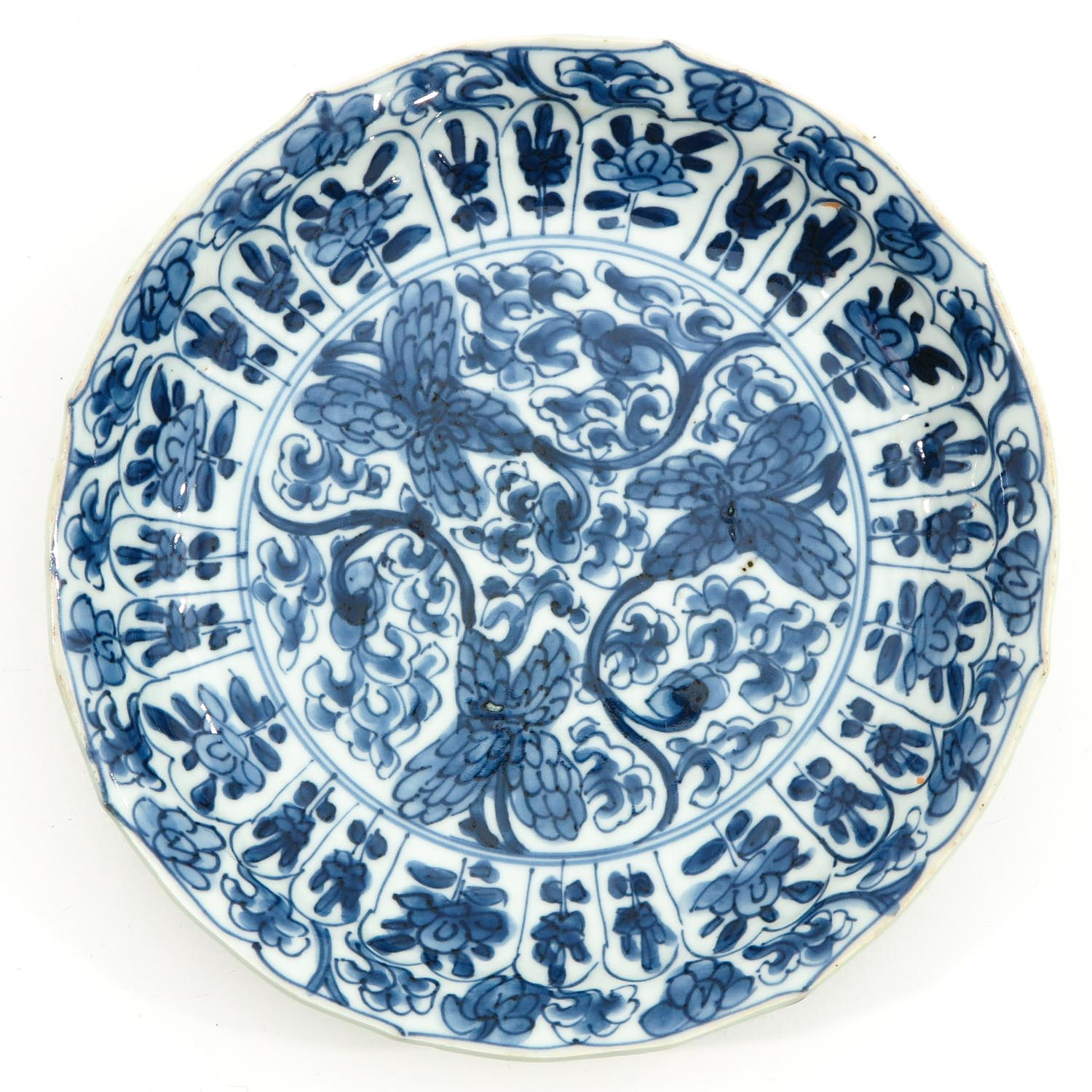 2 Blue and White Plates - Image 3 of 10