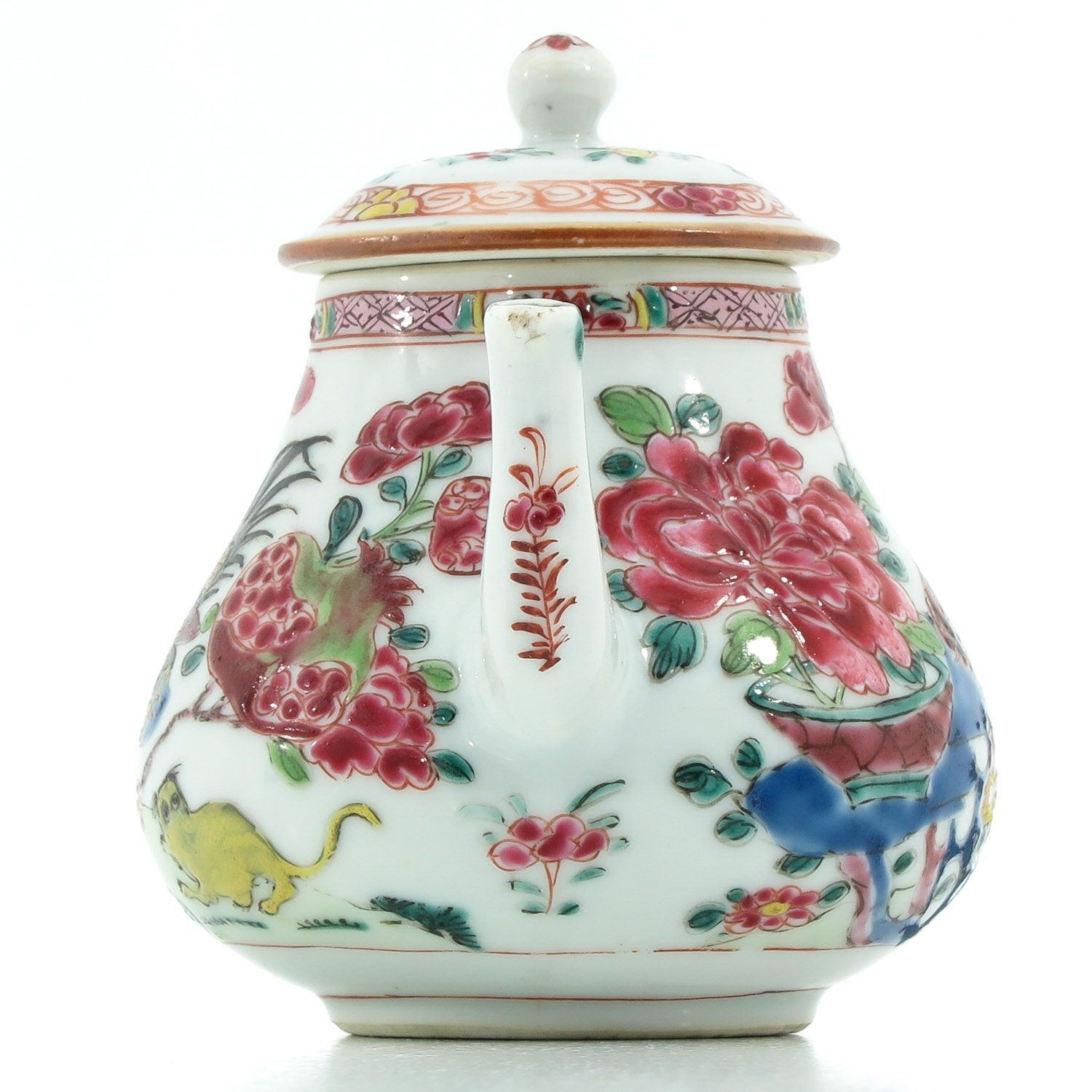 A Famille Rose Teapot - Image 4 of 9