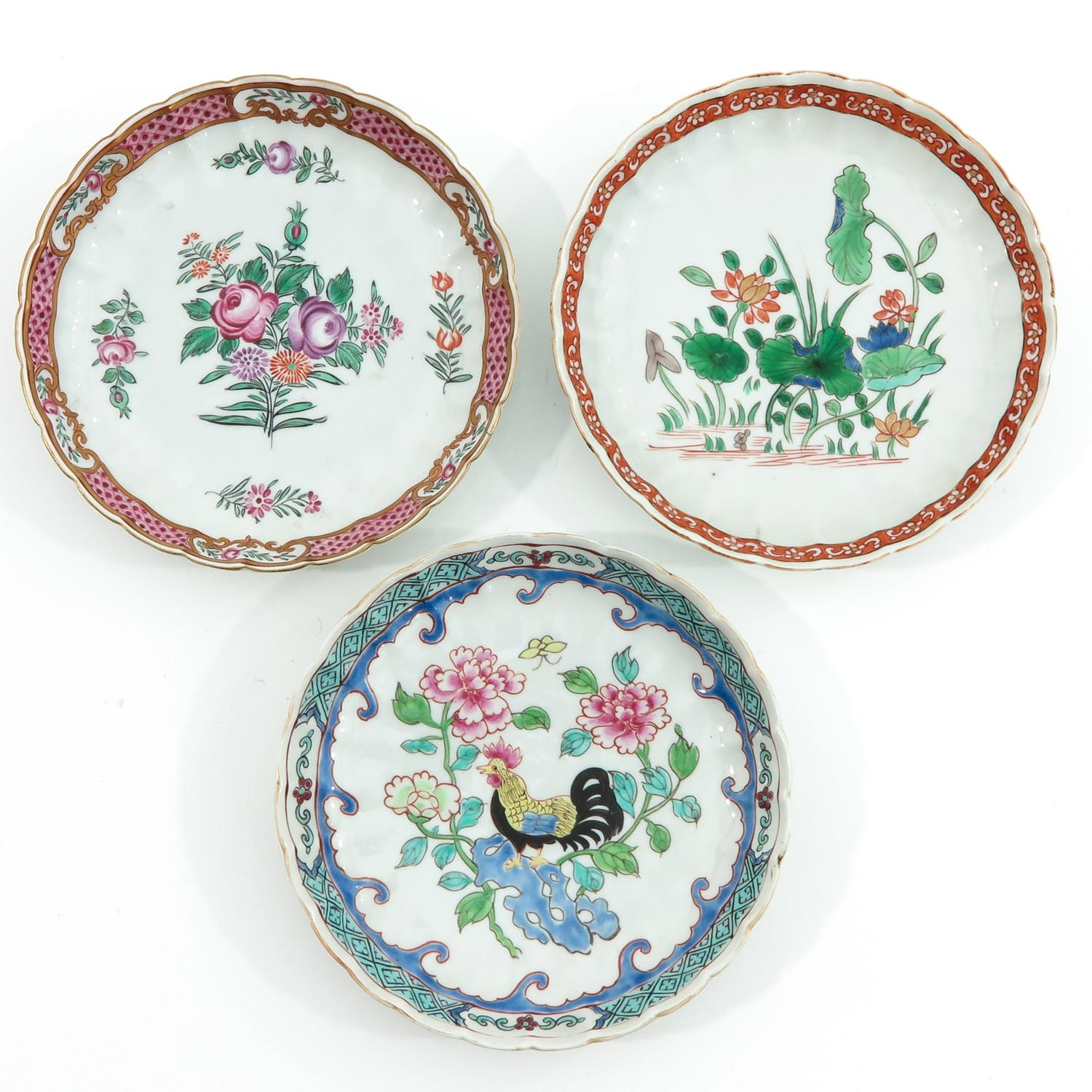 A Lot of 7 Small Plates - Image 3 of 10