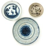 A Collection of 3 Stoneware Plates