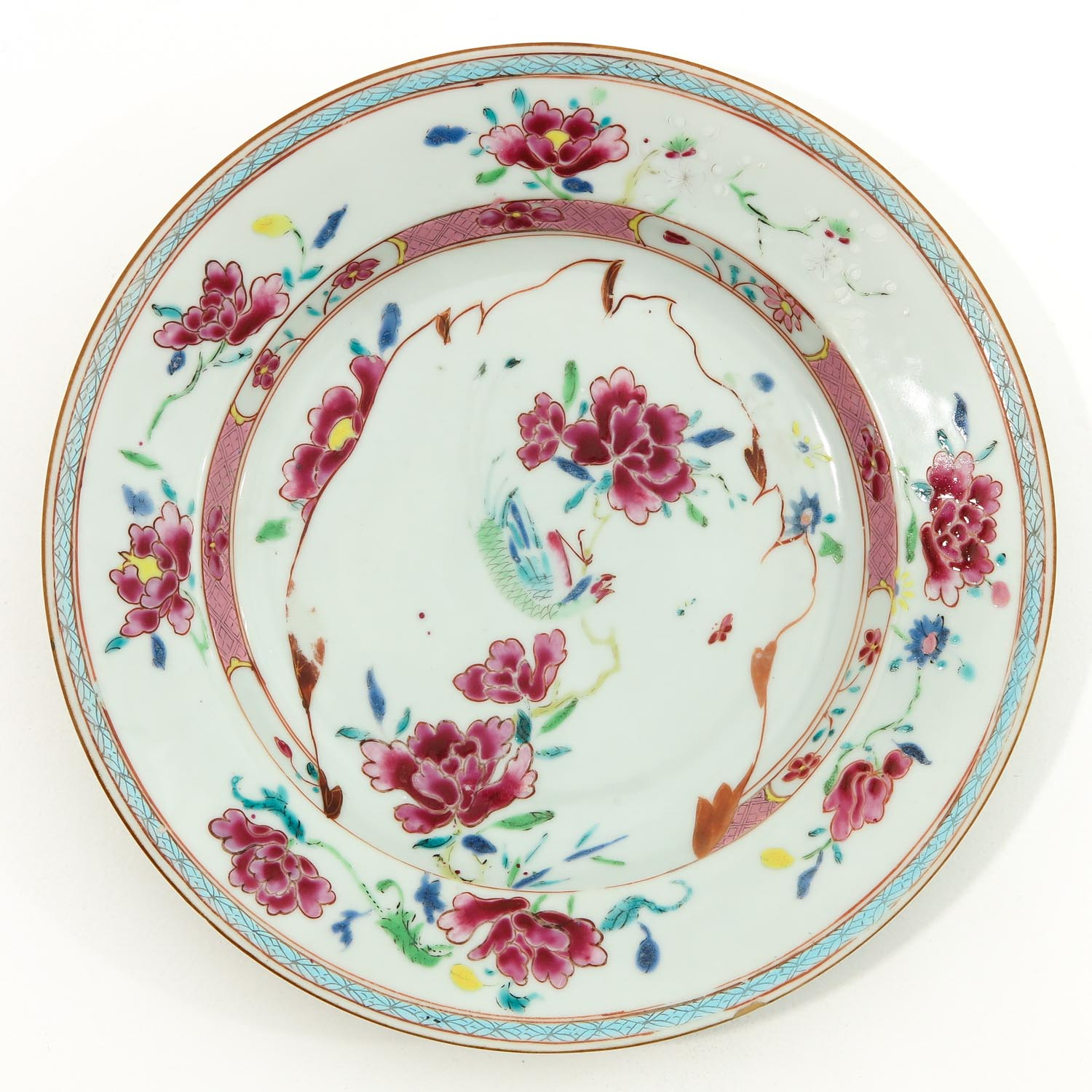 A Pair of Famille Rose Plates - Image 3 of 9