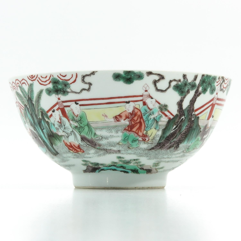 A Famille Verte Bowl - Image 2 of 9