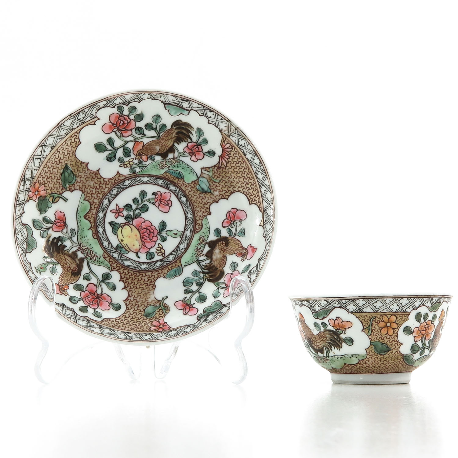 A Rooster Decor Cup and Saucer - Image 3 of 10