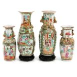 A Collection of 4 Cantonese Vases