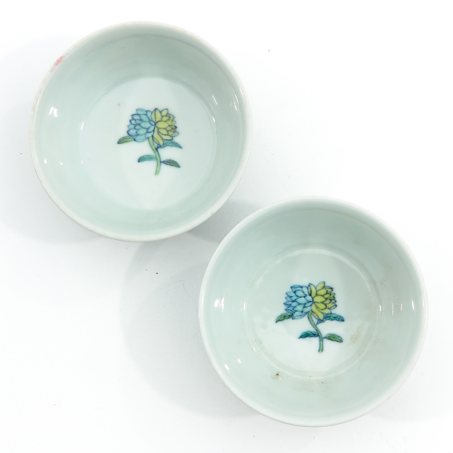 A Pair of Doucai Decor Cups - Image 5 of 10