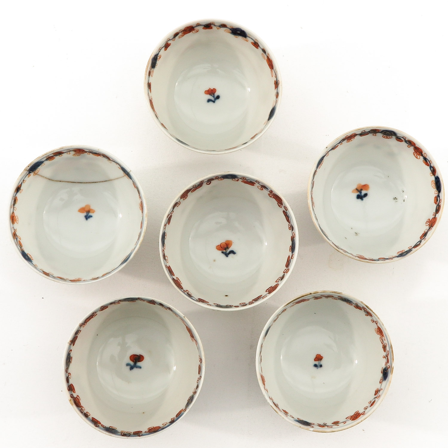 A Collection of Imari Cups and Saucers - Image 7 of 10