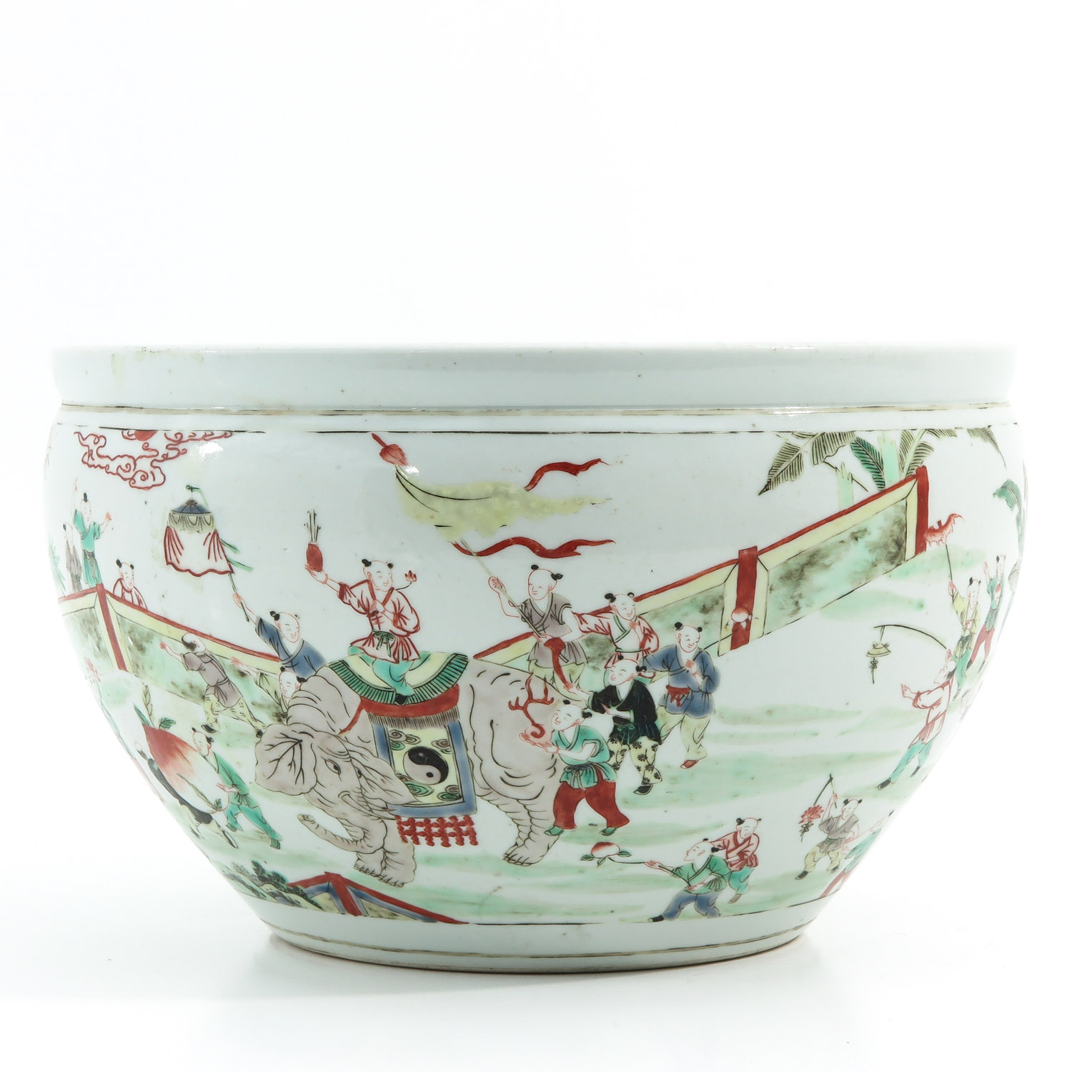 A Famille Verte Fish Bowl - Image 3 of 9
