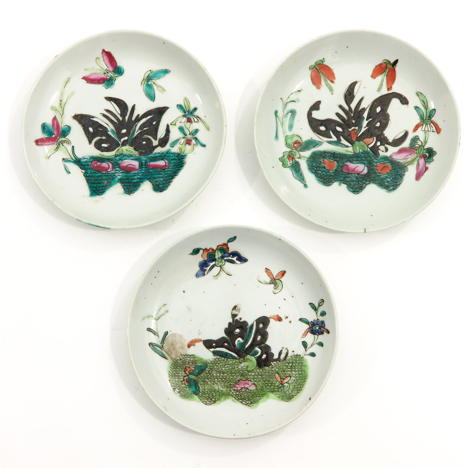A Collection of 10 Polychrome Decor Plates - Image 7 of 10