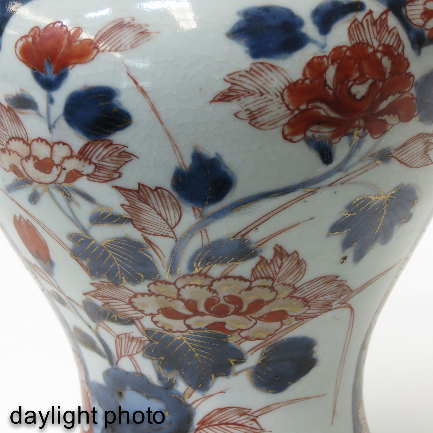 A 5 Piece Imari Garniture Set - Image 9 of 9