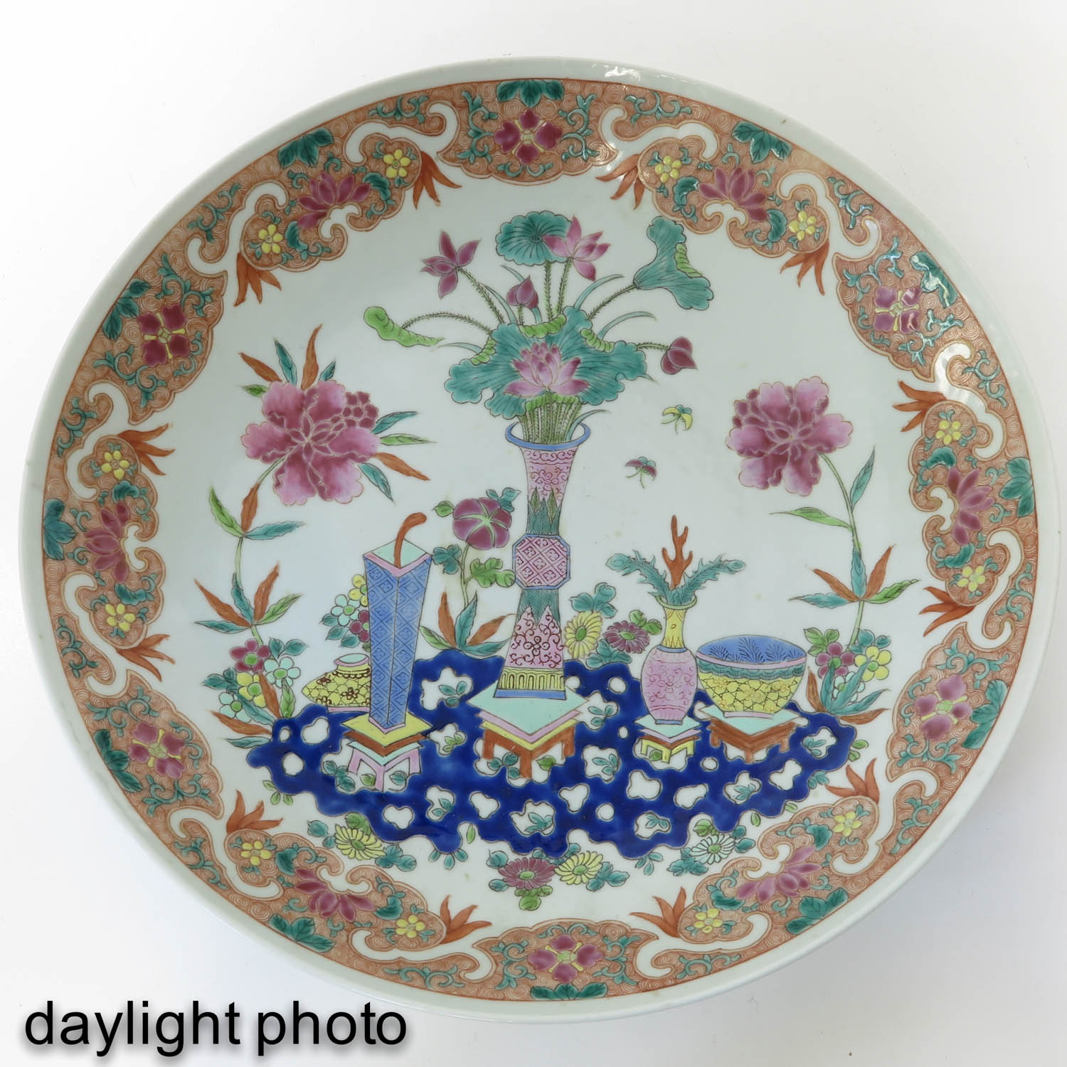 A Famille Rose Charger - Image 5 of 8