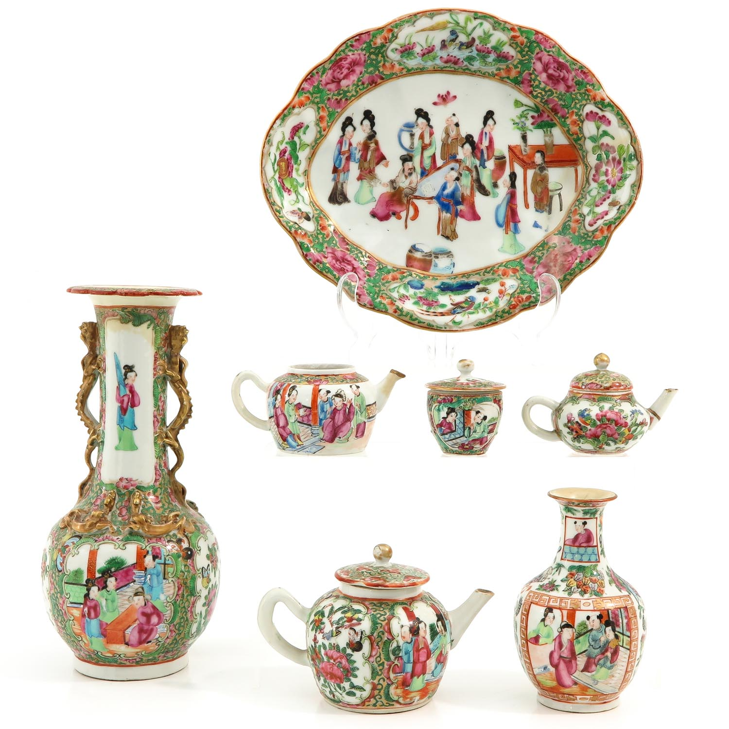 A Collection of Cantonese Porcelain - Image 3 of 10
