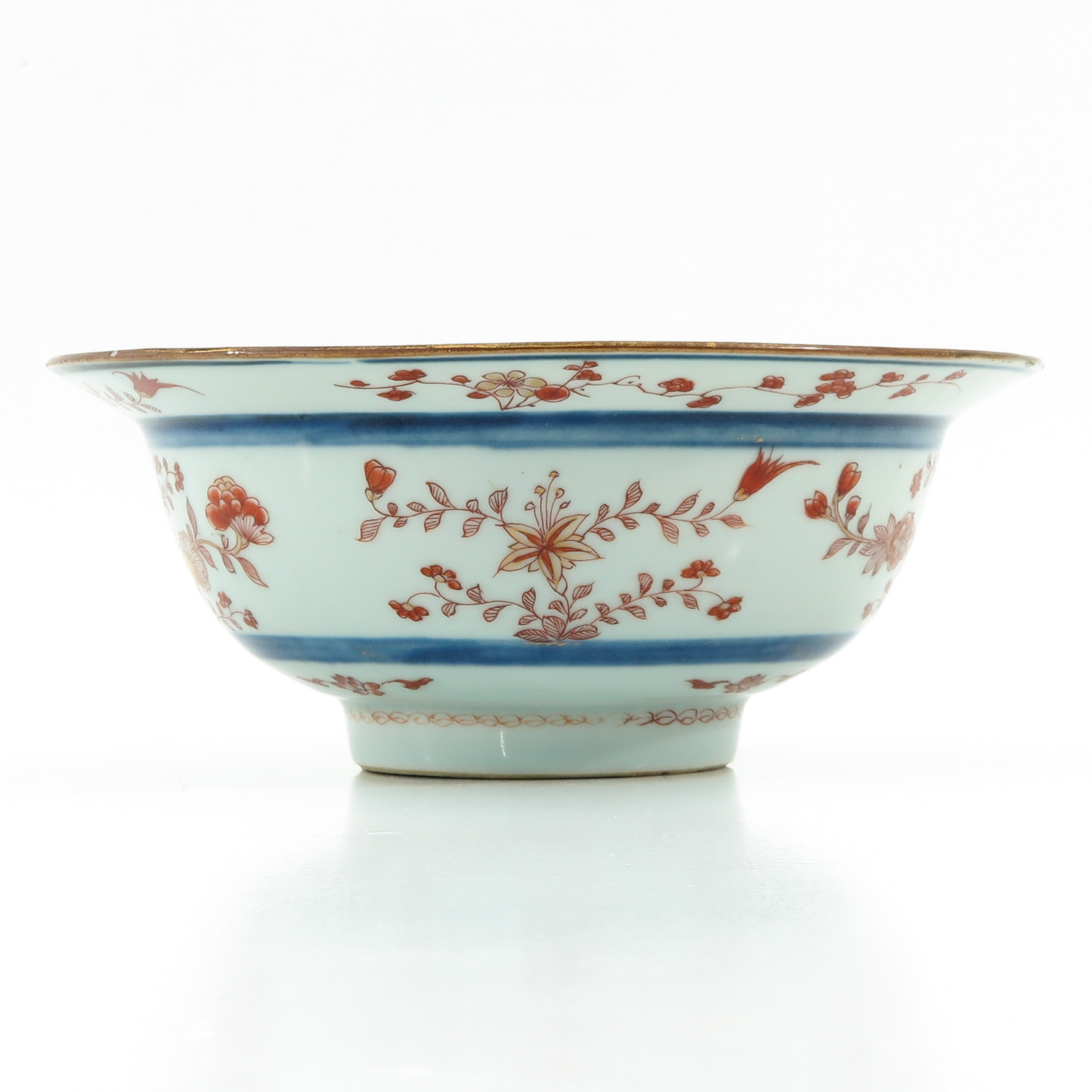 A Blue and Iron Red Bowl - Image 2 of 9