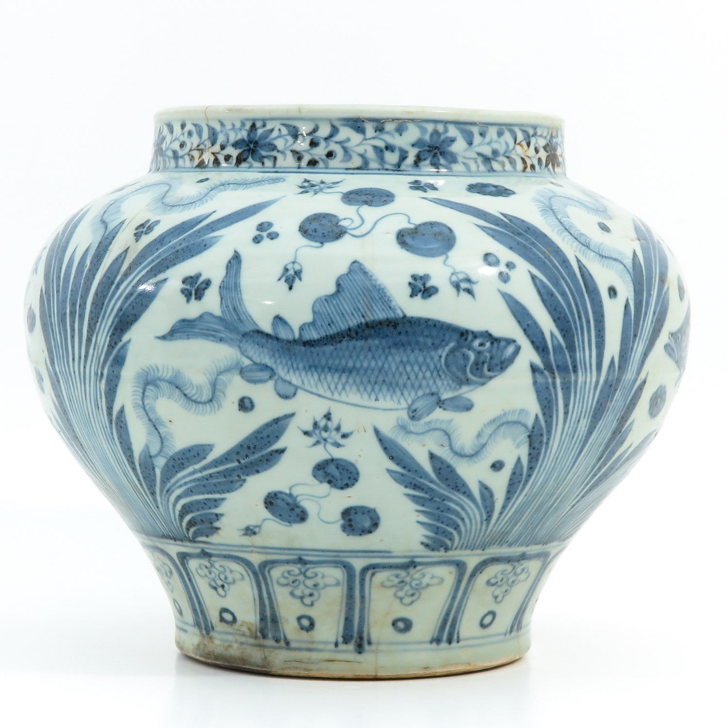 A Blue and White Jar - Image 4 of 9
