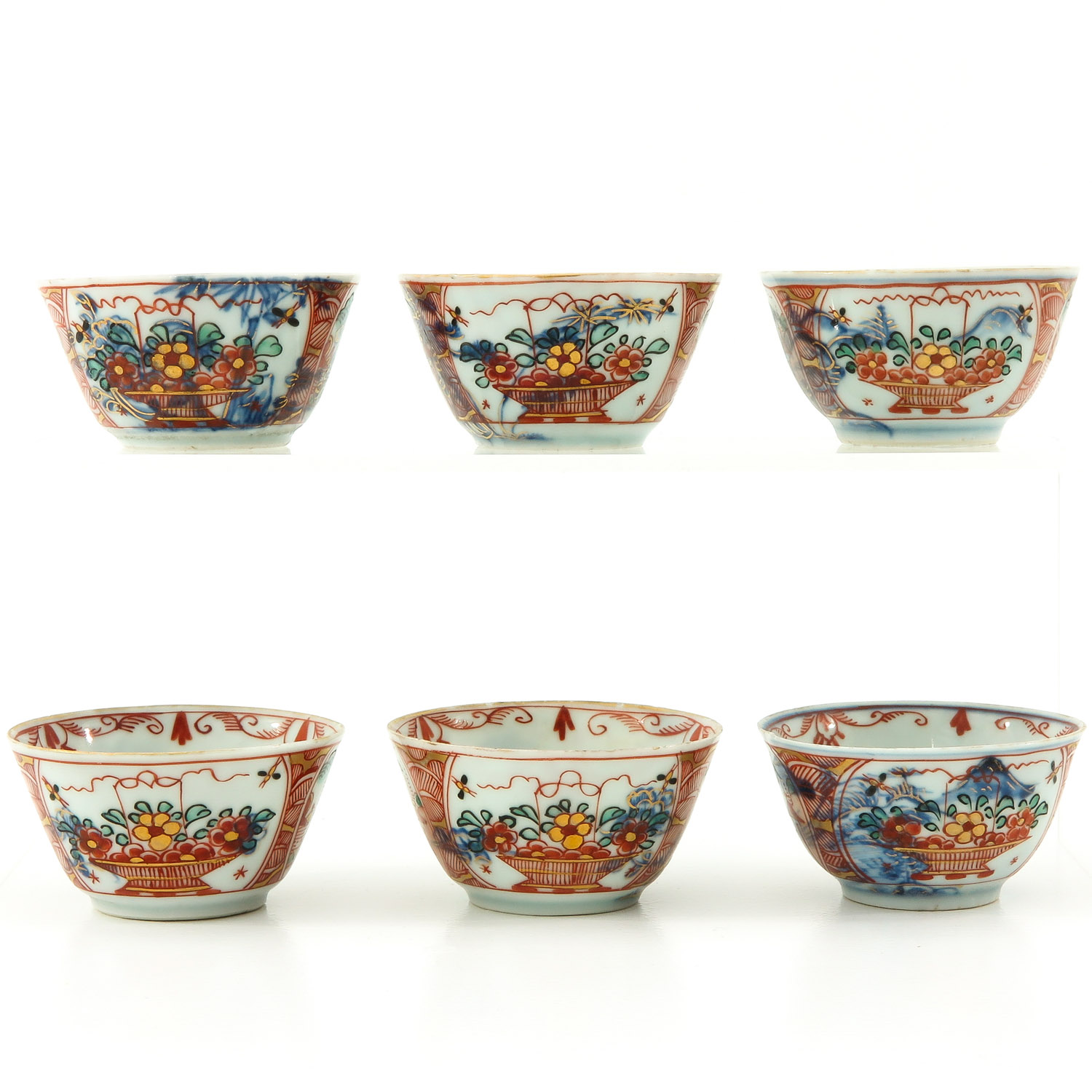 A Series of 6 Cups and Saucers - Image 3 of 10