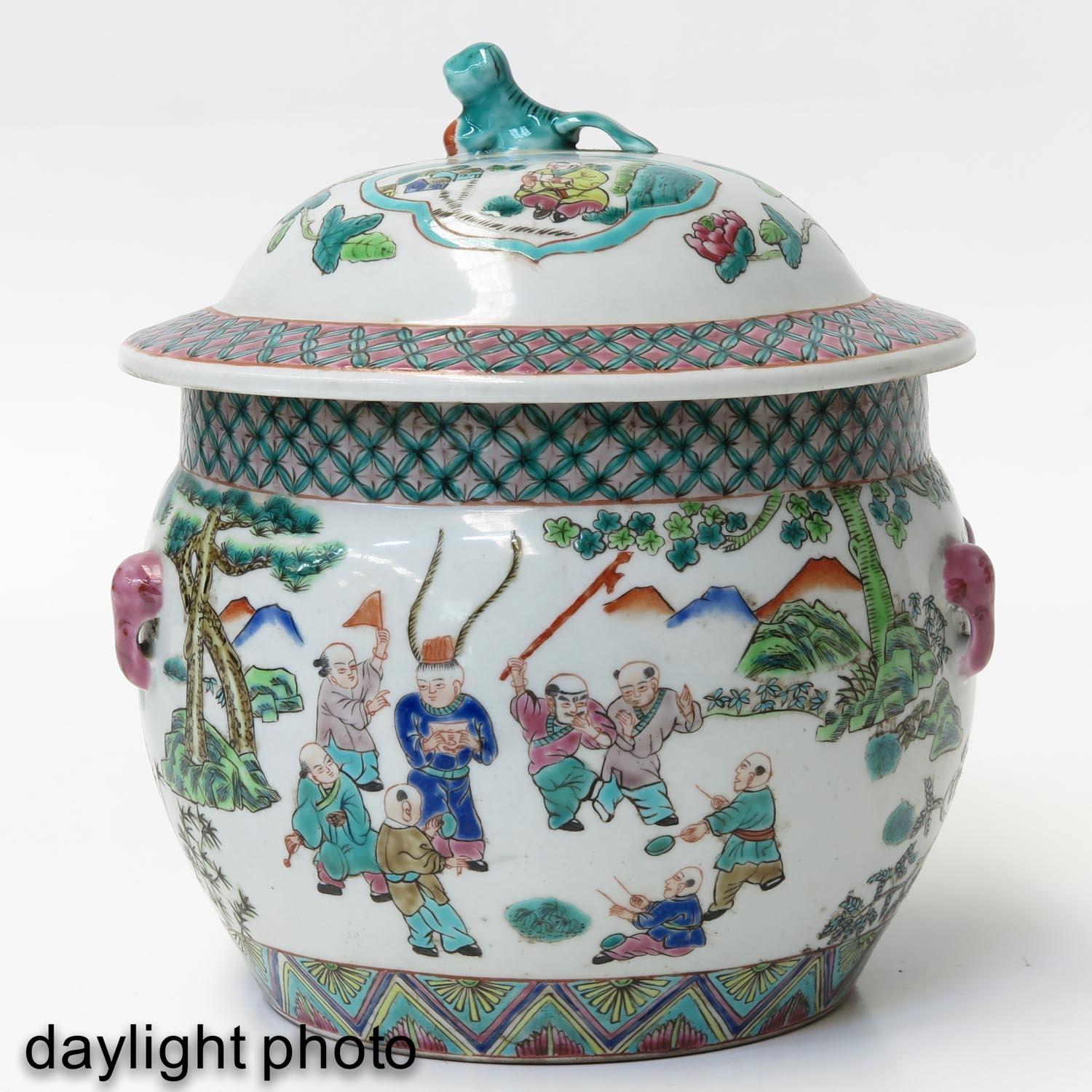 A Famille Rose Pot with Cover - Image 7 of 10
