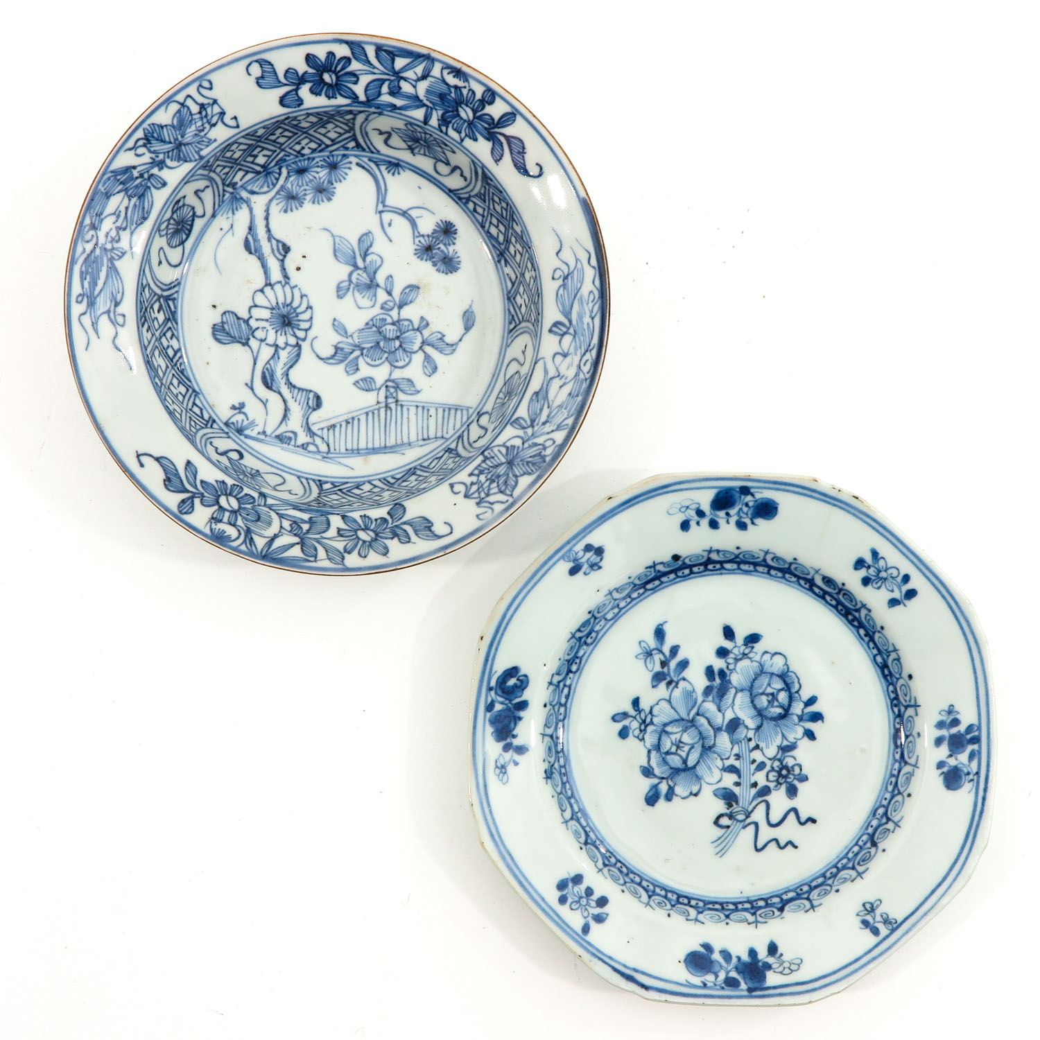 A Lot of 5 Blue and White Plates - Image 7 of 10