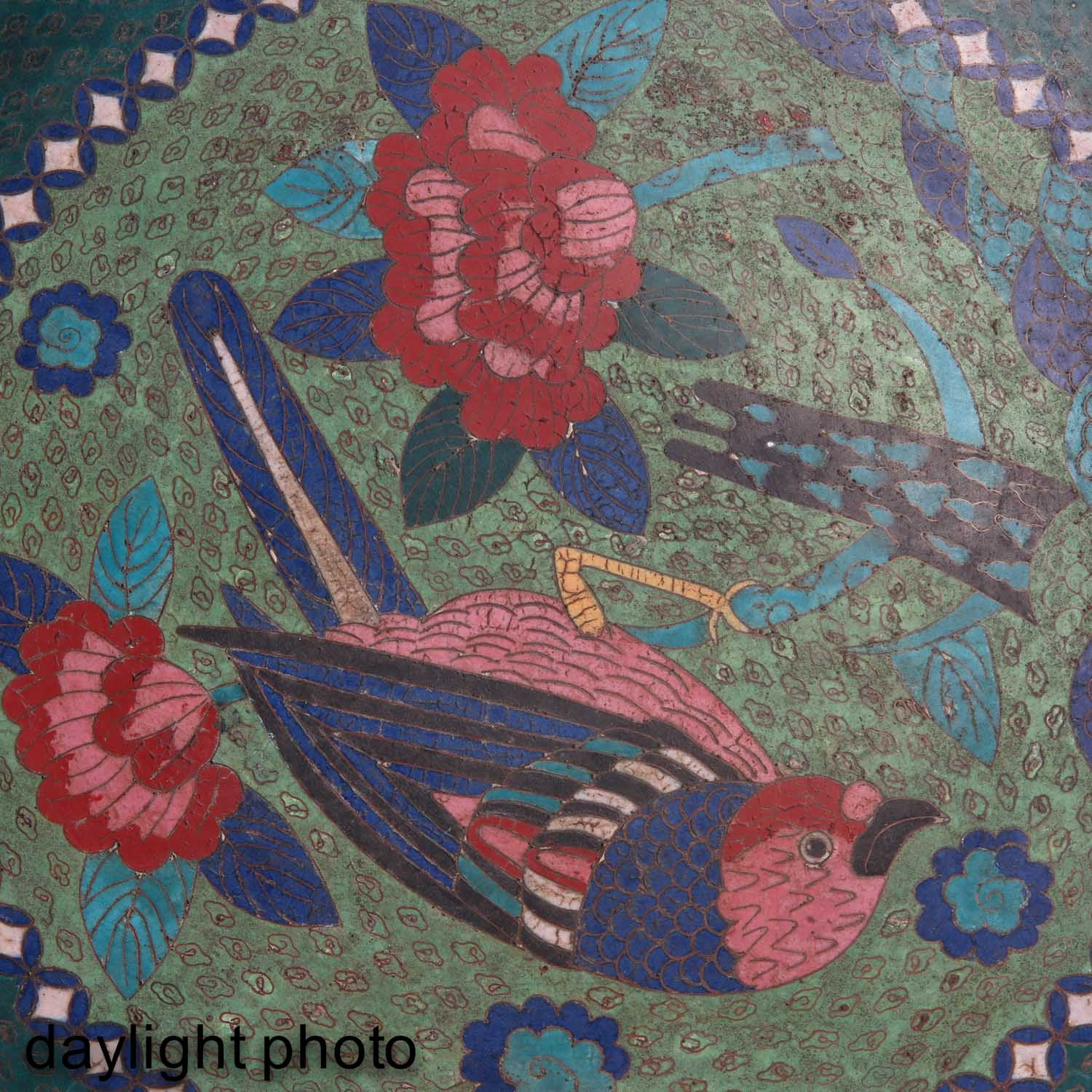 A Pair of Cloisonne Chargers - Image 9 of 10